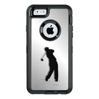 Silver Golf Design OtterBox Defender iPhone Case