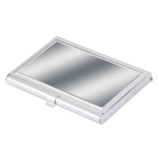 Silver Gradient Business Card Holder