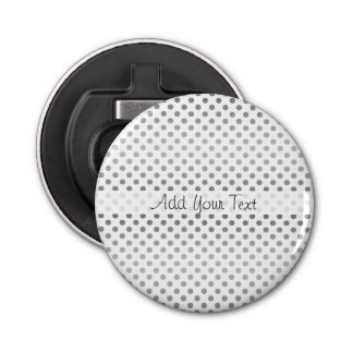 Silver Gradient Polka Dots by Shirley Taylor Bottle Opener