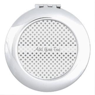 Silver Gradient Polka Dots by Shirley Taylor Makeup Mirror