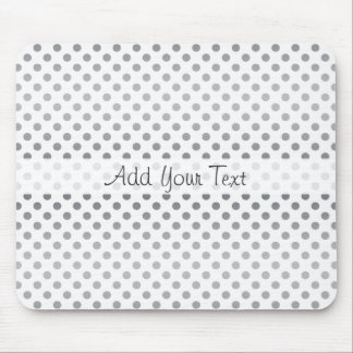 Silver Gradient Polka Dots by Shirley Taylor Mouse Pad