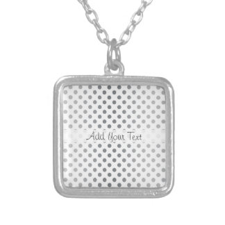 Silver Gradient Polka Dots by Shirley Taylor Silver Plated Necklace