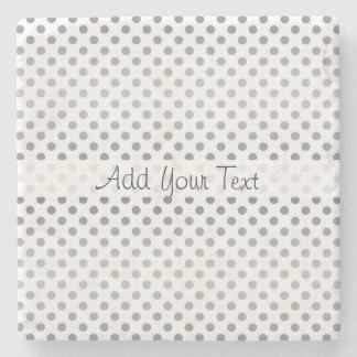 Silver Gradient Polka Dots by Shirley Taylor Stone Coaster