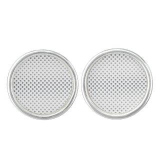 Silver Gradient Polka Dots Cuff Links