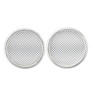 Silver Gradient Polka Dots Cufflinks