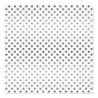 Silver Gradient Polka Dots Photo Art