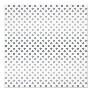 Silver Gradient Polka Dots Art Photo
