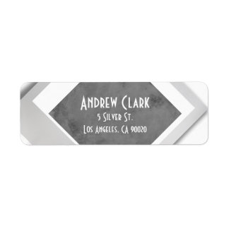 Silver Granite Return Address Label