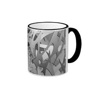 Silver & Gray Abstract Branches Mug