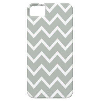 Silver Gray Chevron Iphone 5 Case