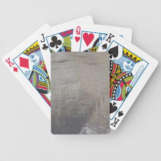 Silver Gray Foiled Fabric Look Bicycle Playing Cards