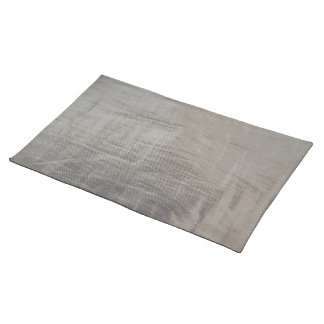 Silver Gray Foiled Fabric Look Placemat