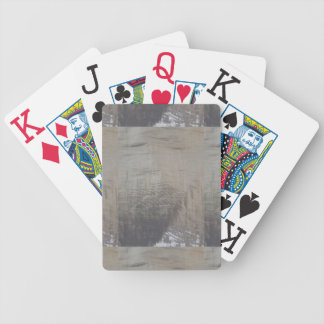 Silver Gray Foiled Fabric Look Poker Deck