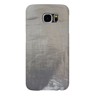 Silver Gray Foiled Fabric Look Samsung Galaxy S6 Cases