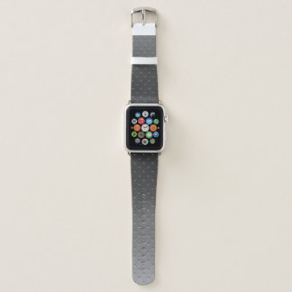 Silver Gray Gradient Faux Metal Pattern Apple Watch Band