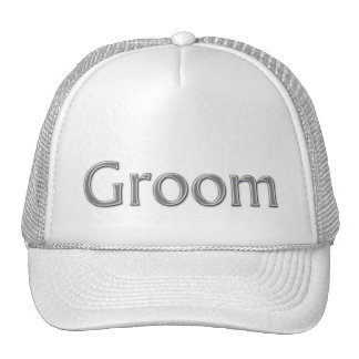 Silver Gray Groom Bridal Party Hat