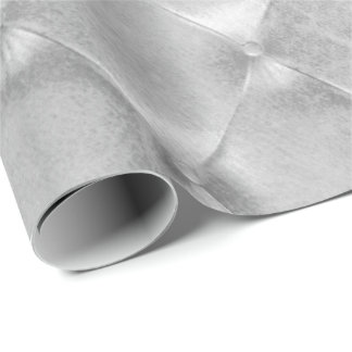 Silver Gray Luxury Opulent Tufted Leather VIP Wrapping Paper