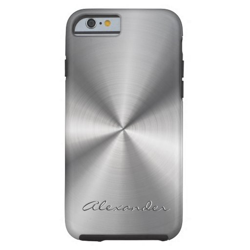 Silver Gray Metallic Design Stainless Steel Look iPhone 6 Case