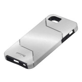 Silver Gray Metallic Design-Stainless Steel Look iPhone 5 Cover