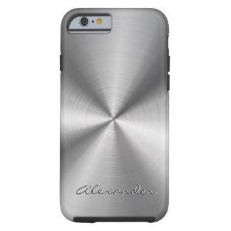Silver Gray Metallic Design Stainless Steel Look iPhone 6 Case
