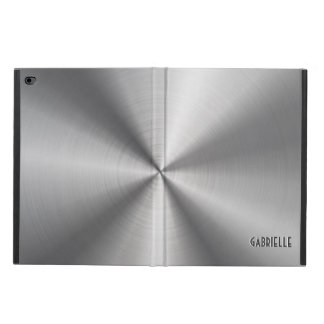 Silver Gray Metallic -Shiny Stainless Steel Look Powis iPad Air 2 Case