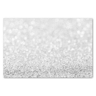 Silver Gray Minimal Glitter Delicate White Girly Tissue Paper