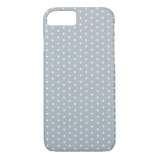 Silver Gray Polka Dot iPhone 7 iPhone 7 Case