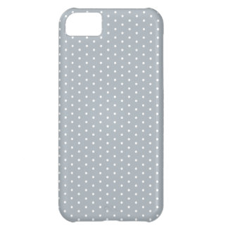 Silver Gray Polka Dot iPhone iPhone 5C Case
