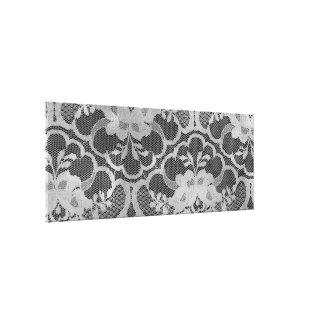 Silver Gray Royal Lace Burgundy Black Canvas Print