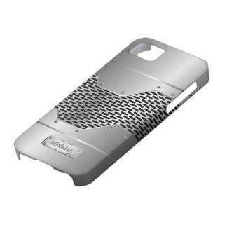 Silver Gray Shiny Metallic Look Pattern iPhone 5 Covers