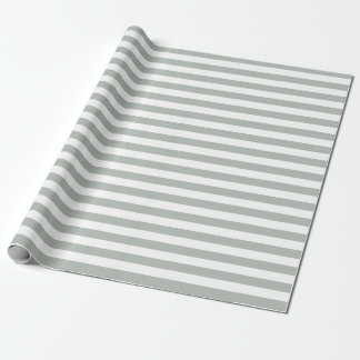 Silver Gray Stripes Wrapping Paper