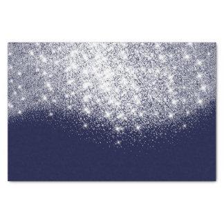Silver Gray White Metallic Glitter Blue Navy Tissue Paper