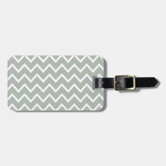 Silver Gray Zig Zag Chevron Luggage Tag