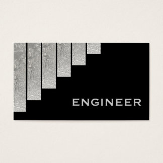 Silver grey, black vertical stripes engineer