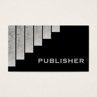 Silver grey, black vertical stripes publisher