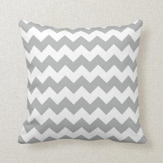 Silver Grey Chevron Zigzag Throw Pillow
