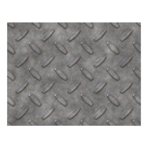 Silver Grey Diamond Plate Textured Custom Flyer