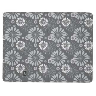 Silver Grey Floral Journal