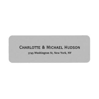Silver Grey Modern Creative Trendy Elegant Family Return Address Label