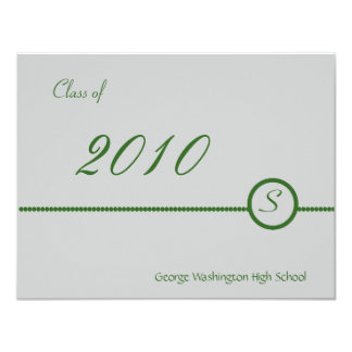 Silver & Grey Monogram Photo Invitation