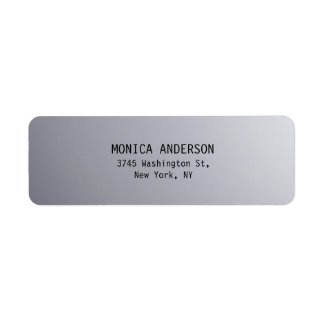 Silver Grey Plain Modern Return Address Label
