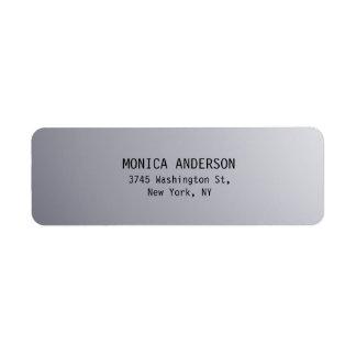 Silver Grey Plain Modern Return Address Label