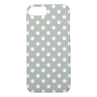Silver Grey Polka Dot iPhone 7 Case
