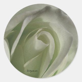 Silver Grey Rose Wedding Envelope Sticker