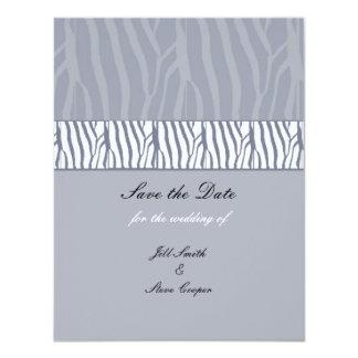 Silver Grey Save the Date 11 Cm X 14 Cm Invitation Card