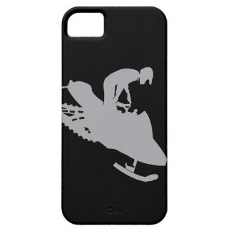 Silver Grey Snowmobiler iPhone 5 Case