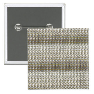 Silver Grey Stripes Template DIY add Text Photo 15 Cm Square Badge