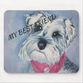 SILVER GREY SWEET SCHNAUZER MOUSE PAD