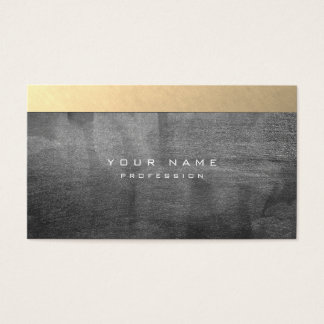 Silver Grungy Abstract Cement Wall Gray Gold Black Business Card