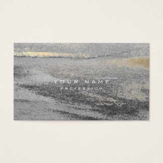 Silver Grungy Abstract Cement Wall Gray Gold Sepia Business Card